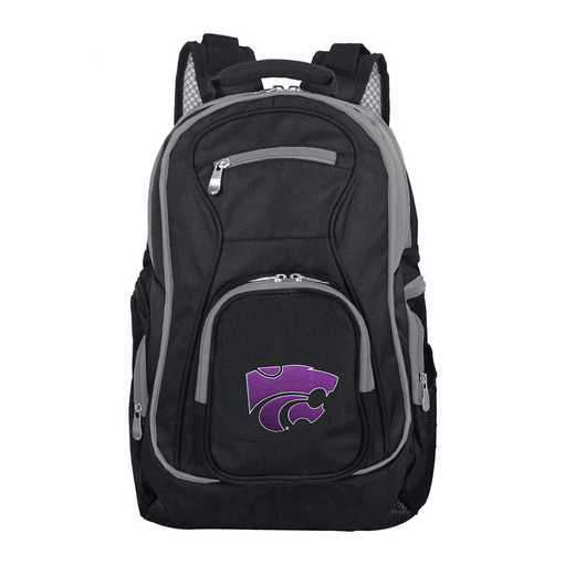 CLKSL708: NCAA Kansas State Wildcats Trim color Laptop Backpack